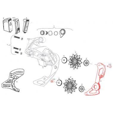 Chape Interne pour Dérailleur Arrière SRAM RED E-Tap AXS #11.7518.093.005