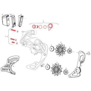 Kit Vis de Fixation et de Réglage Pour Dérailleur Arrière SRAM RED AXS #11.7518.093.001