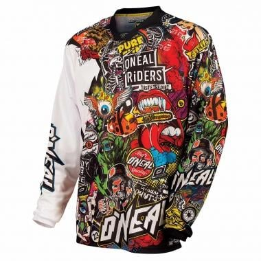 Maillot O NEAL MAYHEM CRANK Manches Longues Noir/Multi