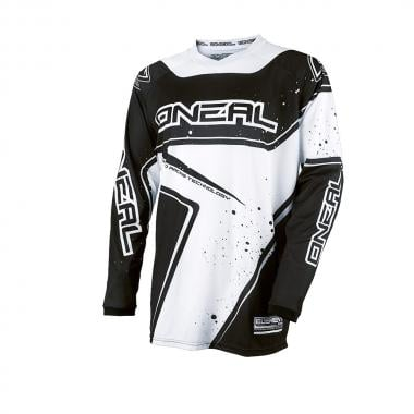 Maillot O NEAL ELEMENT RACEWEAR Manches Longues Noir/Blanc 2017