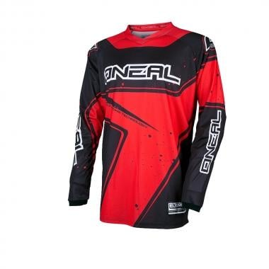 Maillot O NEAL ELEMENT RACEWEAR Manches Longues Noir/Rouge 2017