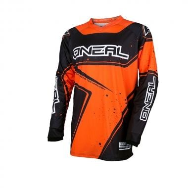 Maillot O NEAL ELEMENT RACEWEAR Manches Longues Noir/Orange 2017