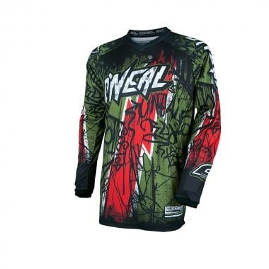 Maillot O NEAL ELEMENT VANDAL Manches Longues Vert/Rouge 2017