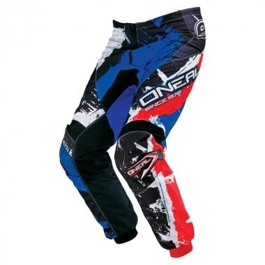 Pantaloni O NEAL ELEMENT SHOCKER Nero/Blu/Rosso 2017