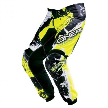Pantalon O NEAL ELEMENT SHOCKER Enfant Noir/Jaune Fluo 2017