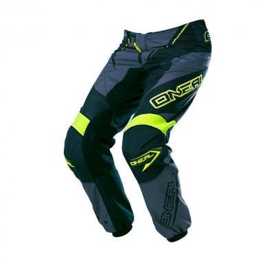 Pantaloni O NEAL ELEMENT RACEWEAR Nero/Grigio/Giallo Fluo 2017