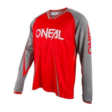 Maillot O NEAL ELEMENT FR BLOCKER Manches Longues Rouge/Gris 2017