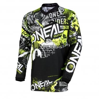 Maillot O'NEAL ELEMENT ATTACK Manches Longues Noir/Jaune