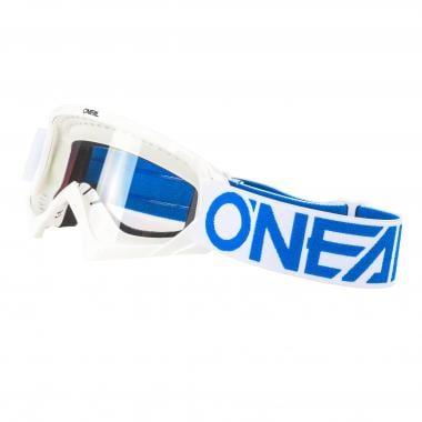 Masque O'NEAL B-10 SOLID Enfant Écran Transparent Blanc/Bleu