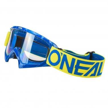 Masque O'NEAL B-10 SOLID Enfant Écran Transparent Jaune/Bleu