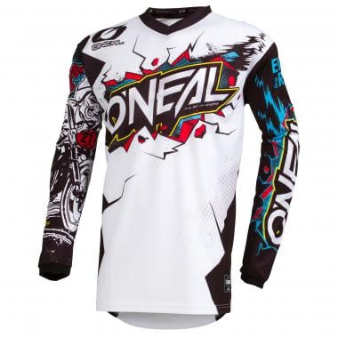 Maillot O'NEAL ELEMENT VILLAIN Manches Longues Blanc