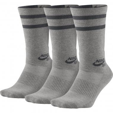 NIKE SB CREW 3 Pairs of Socks Grey
