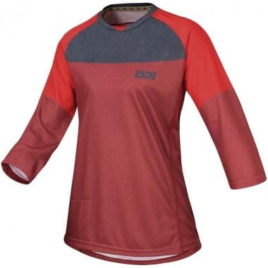 Maillot IXS VIBE 6.1 Femme Manches 3/4 Rouge