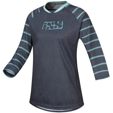 Maillot IXS VIBE 6.2 Femme Manches 3/4 Gris/Turquoise