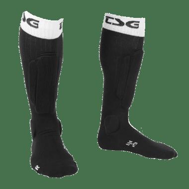 Calcetines con espinilleras TSG RIOT Negro
