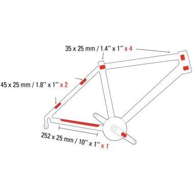 Bike Vélo Focus Vert Neon Chain Slapper Protection Chaînes Tailles Protection 2