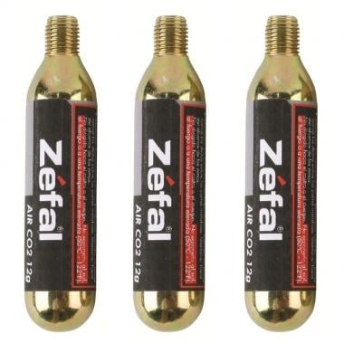 Cartucho CO2 ZEFAL Roscado 12 g (x3)