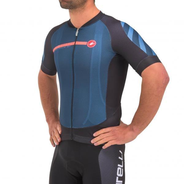 423646107 CASTELLI AERO RACE 5.1 Short-Sleeved Jersey Black Blue Orange 2017 -  Probikeshop