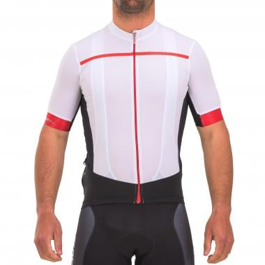 Maillot CASTELLI FORZA PRO Manches Courtes Blanc/Rouge 2017
