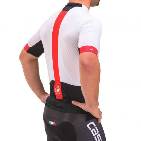 CASTELLI FORZA PRO Short-Sleeved Jersey White Red 2017 - Probikeshop a93baa975