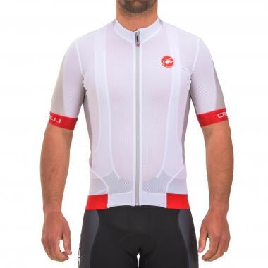 Maillot CASTELLI VOLATA 2 Manches Courtes Blanc/Rouge 2017