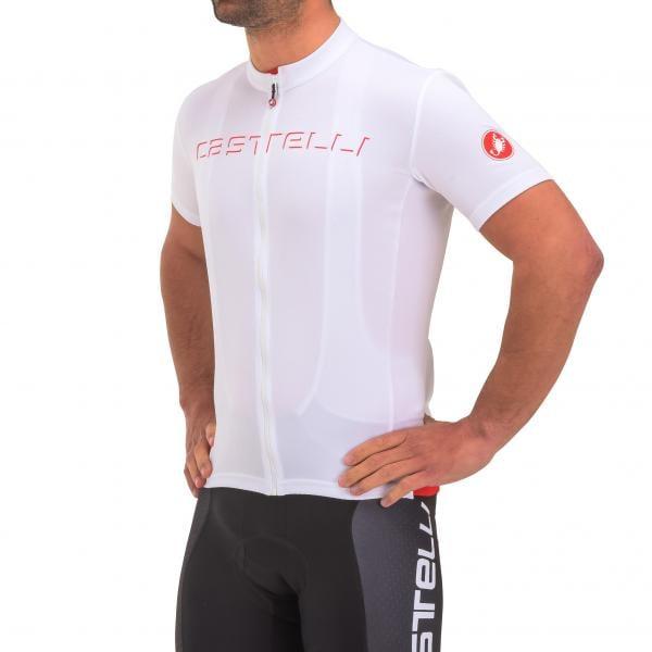 d76729da7 CASTELLI PROLOGO V Short-Sleeved Jersey White 2017 - Probikeshop