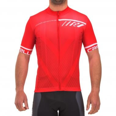 Maillot CASTELLI VELOCISSIMO Manches Courtes Rouge 2017
