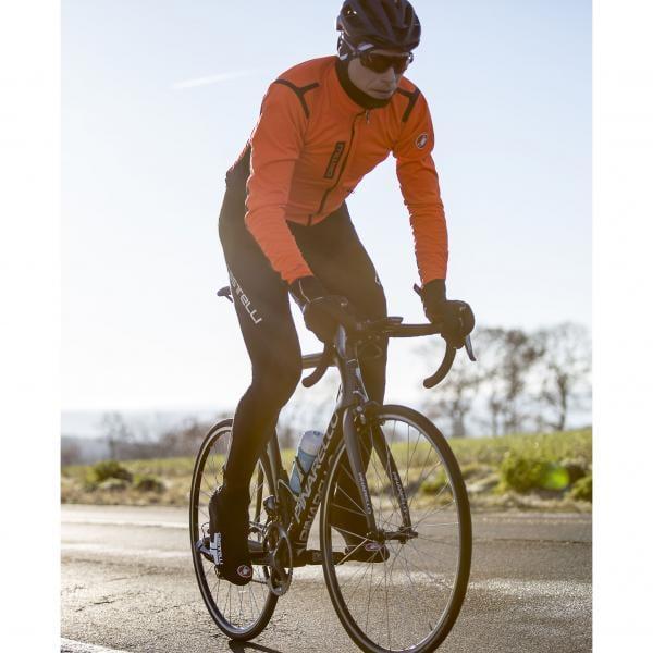 CASTELLI ALPHA RoS Jacket Orange/Black - Probikeshop
