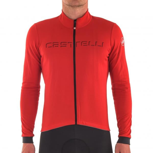 CASTELLI FONDO FZ Long-Sleeved Jersey Red Grey Anthracite 2017 ... 1992ea634