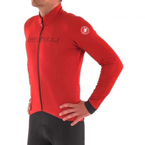 CASTELLI FONDO FZ Long-Sleeved Jersey Red Grey Anthracite 2017 - Probikeshop bc2730613