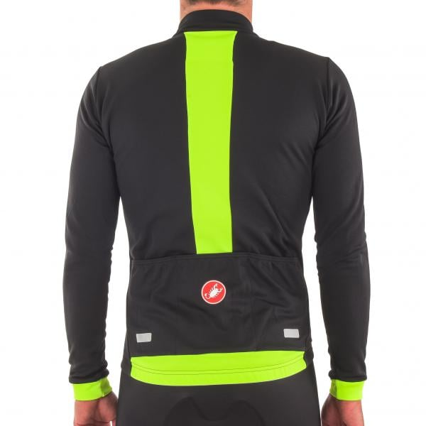 CASTELLI FONDO FZ Long-Sleeved Jersey Black Neon Yellow 2017 - Probikeshop 0e703212a