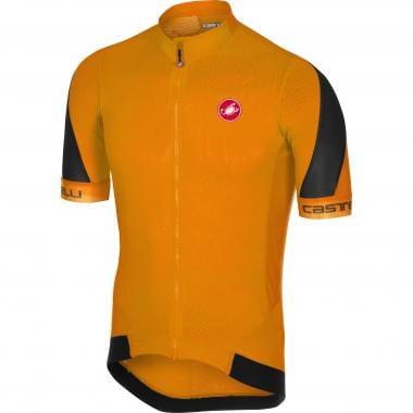 3939bc0f0 CASTELLI VOLATA 2 FZ Short-Sleeved Jersey Orange Black 2018