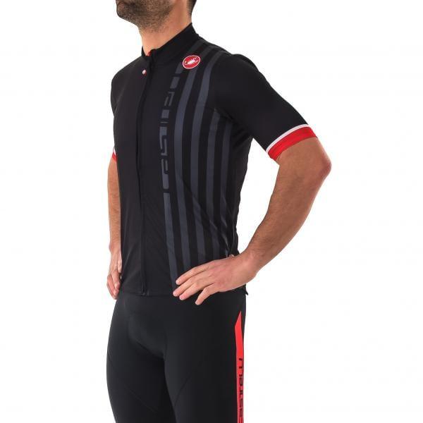 CASTELLI PODIO DOPPIO Short-Sleeved Jersey Black 2018 - Probikeshop b42438114