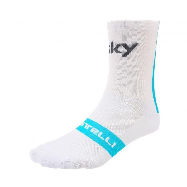 188eab897 CASTELLI TEAM SKY ROSSO CORSA 13 Socks White 2018 - Probikeshop