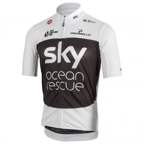maillot castelli team sky podio tour de france manches courtes noir 2018 probikeshop. Black Bedroom Furniture Sets. Home Design Ideas