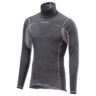 Camiseta interior técnica CASTELLI FLANDERS WARM de cuello alto Gris 2019