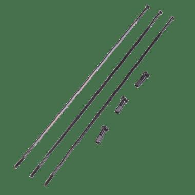 Kit de 3 Rayons Droits Externes ZIPP 808 CX RAY Noir 224 mm