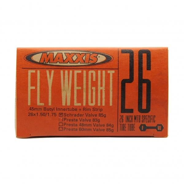 Chambre air maxxis fly weight 26x1 50 1 75 butyl for Chambre a air 26x1 75