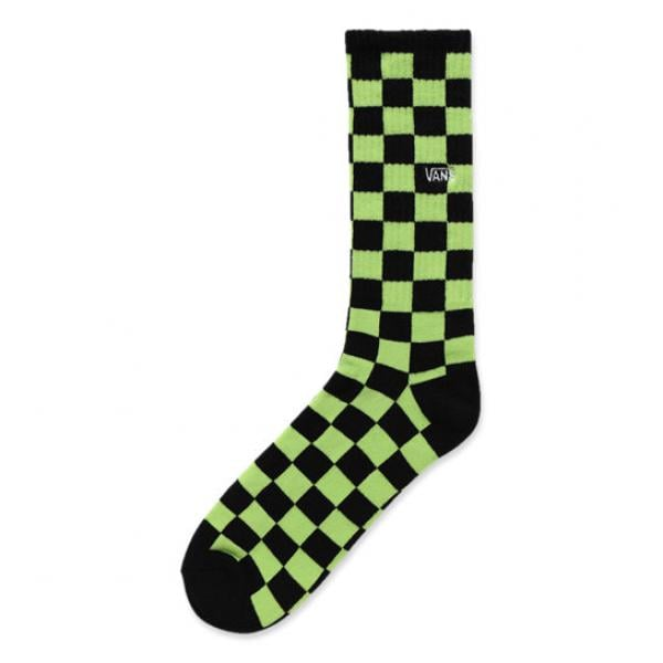 imbattuto x scarpe esclusive vendita di liquidazione Calzini VANS CHECKERBOARD CREW II Nero/Verde 2019 - Probikeshop