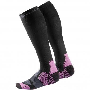 Chaussettes de Compression SKINS BIO ESSENTIALS Femme Noir/Rose