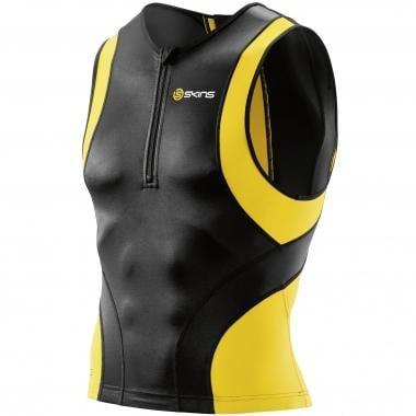 Jersey SKINS TRI 400 Sem Mangas Preto/Amarelo
