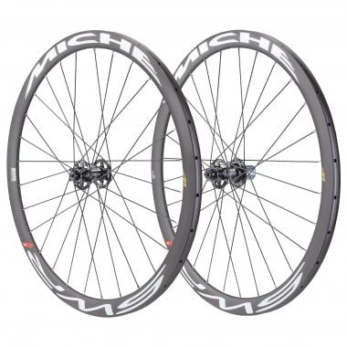 Par de Rodas MICHE SWR FULL CARBON CROSS DX DISC (6 Furos) para Tubulares