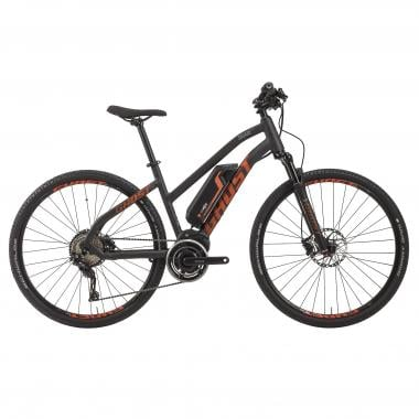 Bicicleta eléctrica GHOST HYBRIDE SQUARE CROSS 4 Mujer Negro 2017