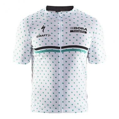 Maillot CRAFT BORA HANSGROHE Manches Courtes Blanc 2017