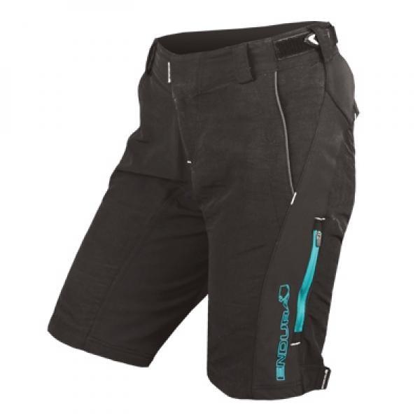 46daf028e1 Pantalón corto ENDURA SINGLETRACK II Mujer Negro Azul - Bikeshop