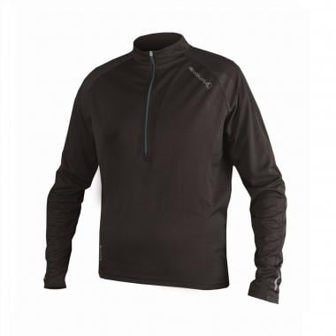 Maillot ENDURA XTRACT Manches Longues Col Zip Noir