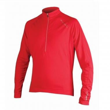 Maillot ENDURA XTRACT Manches Longues Col Zip Rouge