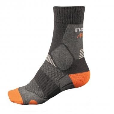 Calcetines ENDURA MTB Negro/Naranja/Gris