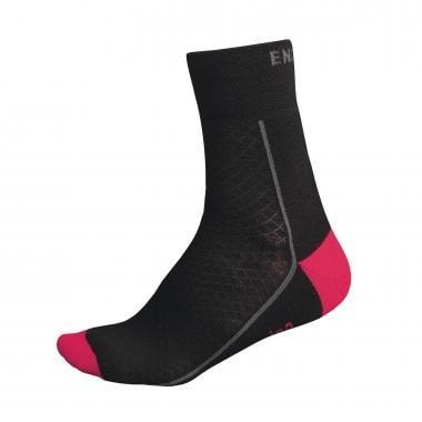 Calcetines ENDURA MERINO Mujer Negro/Rosa