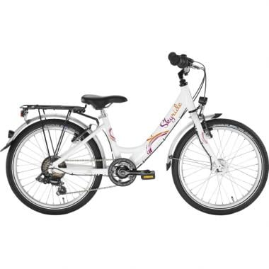 "CDA - Vélo de Ville PUKY SKYRIDE 20-6 20"" Blanc"